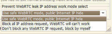 prevent WebRTC IP leak mode